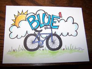 Blue's Bike custom name art