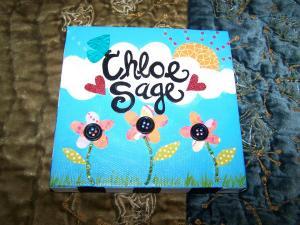 Chloe Sage custom canvas