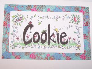 Custom Cookie name art